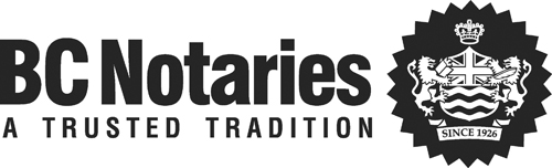 BC Notaries Logo  - Aug 2003 - B&W